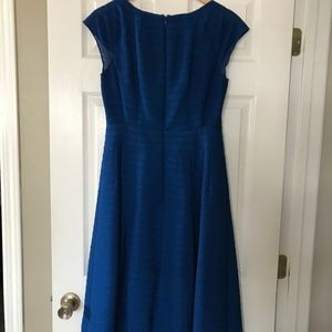 Nanette Lepore Blue Fit and Flare Dress sz 8